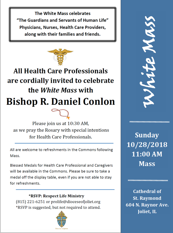 Join Nourish at the White Mass October 28th