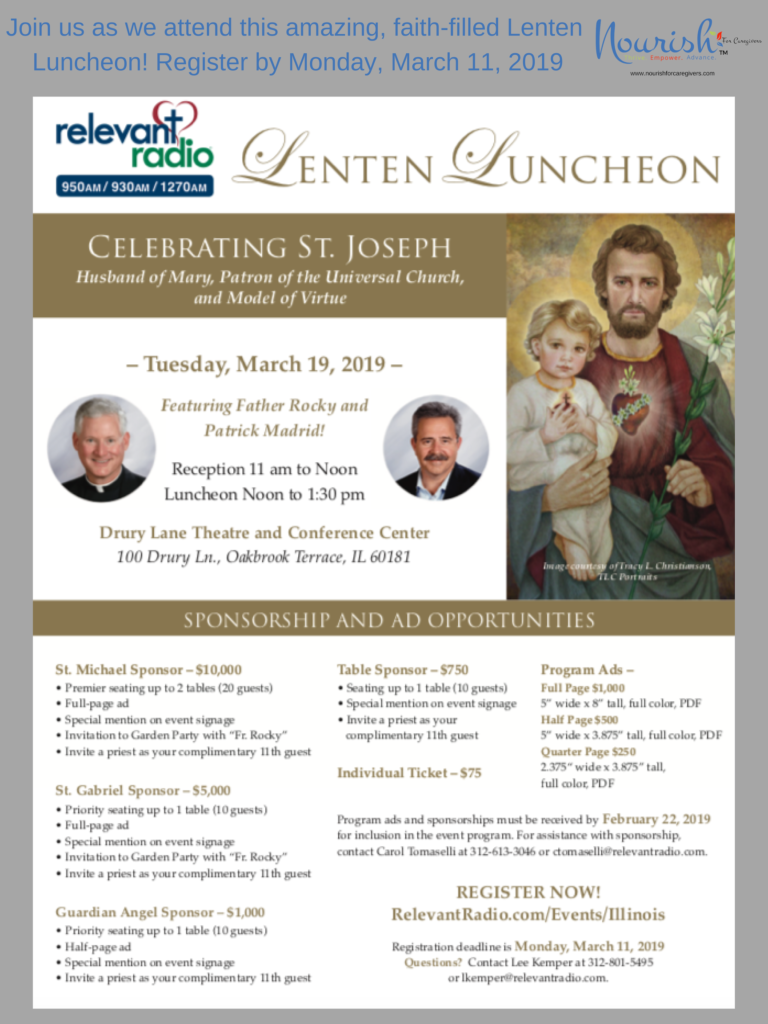 Register NOW! Join us as we attend the Relevant Radio Lenten Luncheon